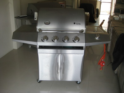 Texas barbecue grill a214s front
